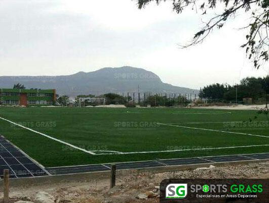 Pasto Sintetico Cancha de Futbol Soccer Sultepec Mexico 3