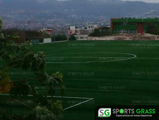 Pasto Sintetico Cancha de Futbol Soccer Sultepec Mexico 4
