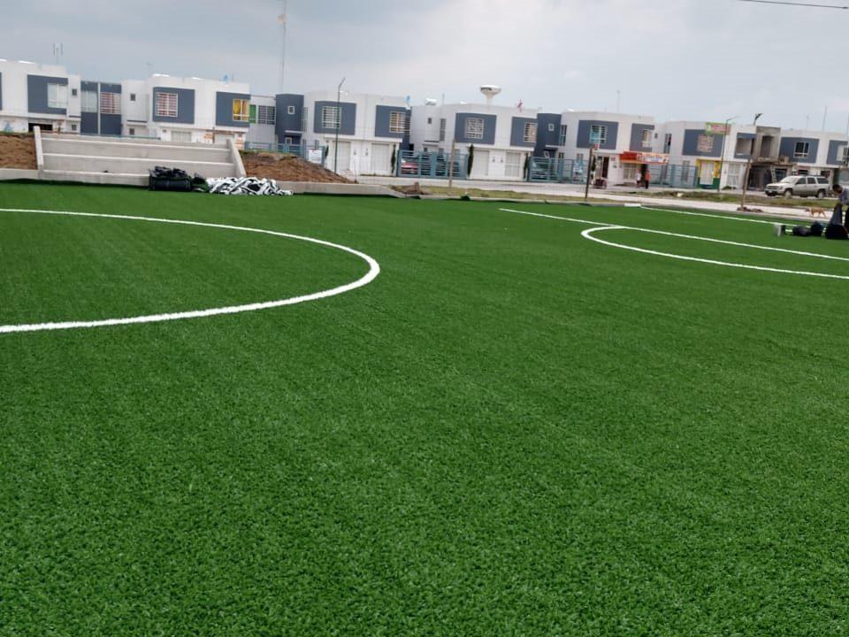 Constructora SADASI Tizayuca Hidalgo Dos Canchas Fútbol 7 Sports Grass 07