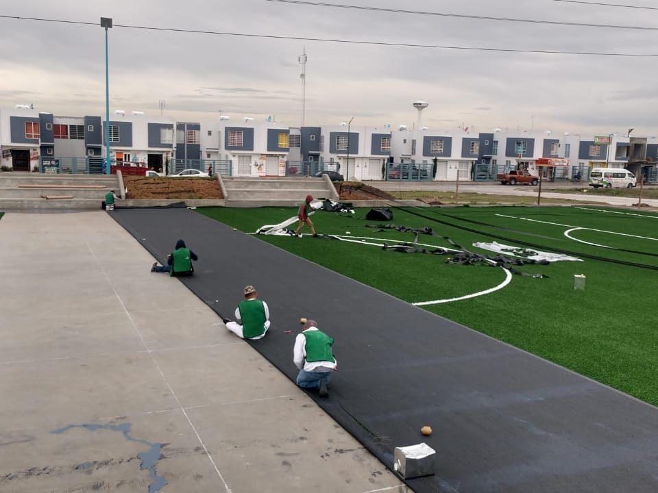 Constructora SADASI Tizayuca Hidalgo Dos Canchas Fútbol 7 Sports Grass 11