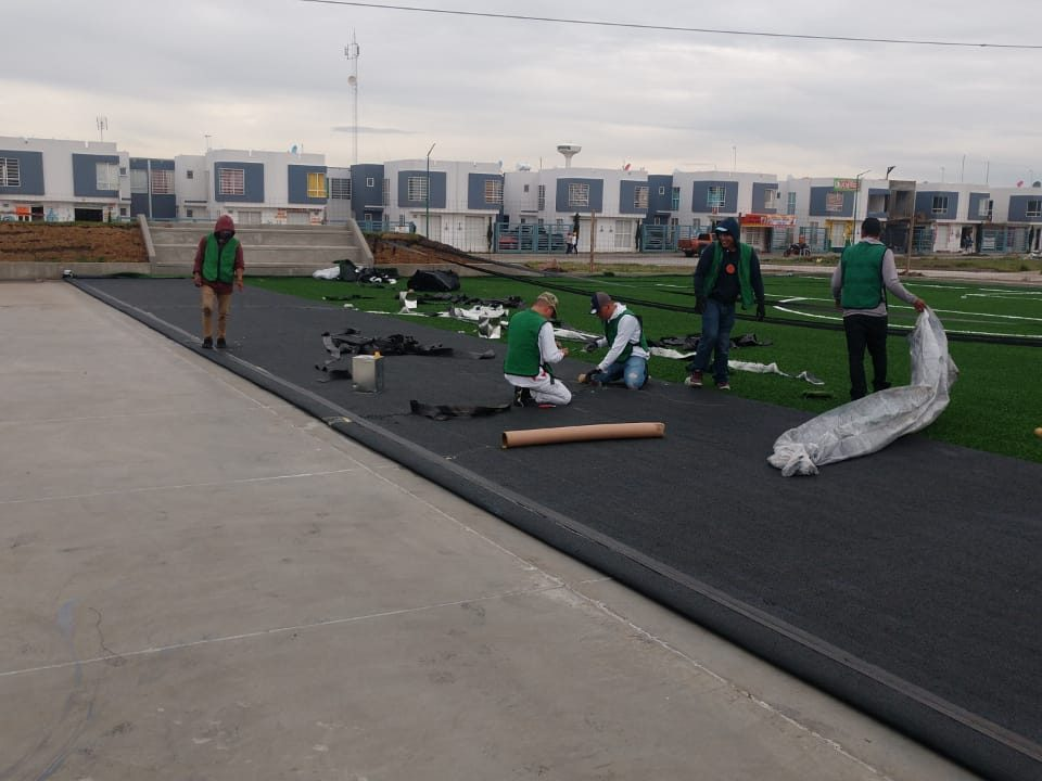 Constructora SADASI Tizayuca Hidalgo Dos Canchas Fútbol 7 Sports Grass 12