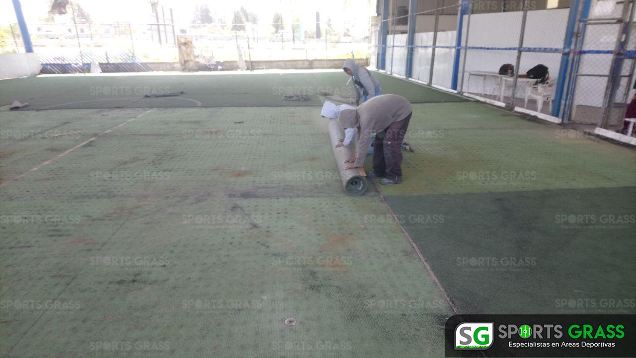 Desinstalacion e Instalacion Cancha de Futbol 5 Puebla, Puebla Sports Grass 06