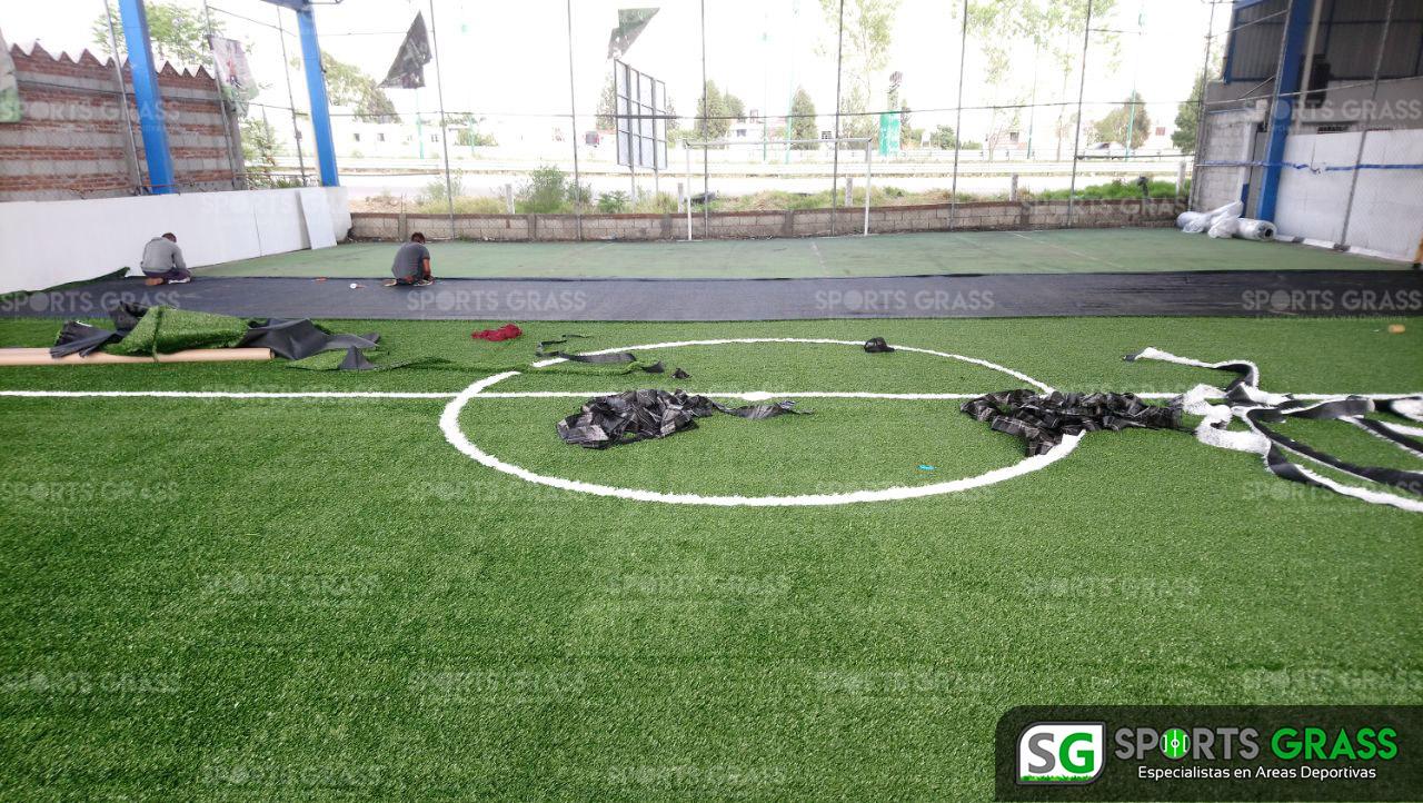 Desinstalacion e Instalacion Cancha de Futbol 5 Puebla, Puebla Sports Grass 08
