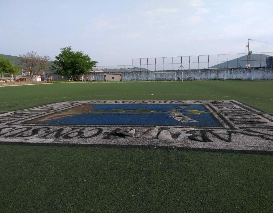 Cancha de fútbol soccer, reparación del círculo central de la cancha y áreas chicas Sports Grass 03