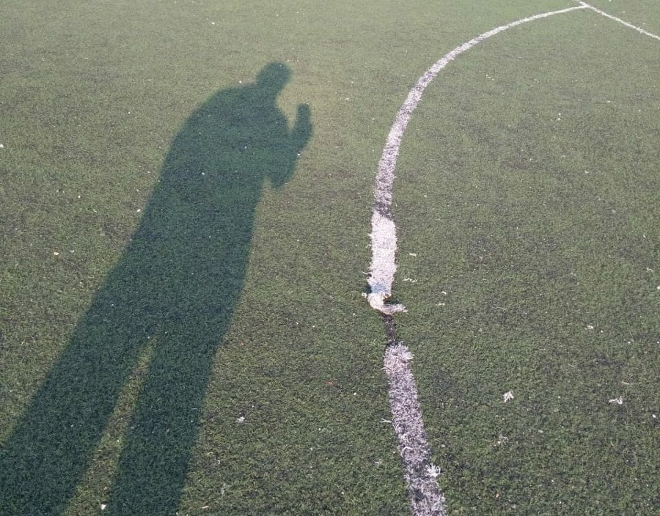 Cancha de fútbol soccer, reparación del círculo central de la cancha y áreas chicas Sports Grass 07