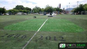 Cancha de fútbol soccer, reparación del círculo central de la cancha y áreas chicas Sports Grass 01