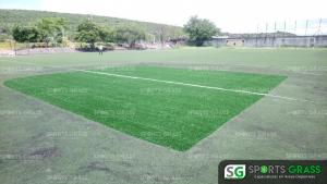 Cancha de fútbol soccer, reparación del círculo central de la cancha y áreas chicas Sports Grass 02