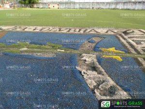 Cancha de fútbol soccer, reparación del círculo central de la cancha y áreas chicas Sports Grass 04