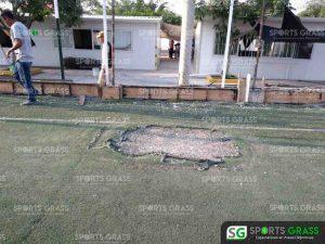 Cancha de fútbol soccer, reparación del círculo central de la cancha y áreas chicas Sports Grass 06
