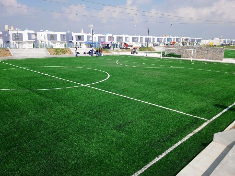 Constructora SADASI Tizayuca Hidalgo Dos Canchas Fútbol 7 Sports Grass 01