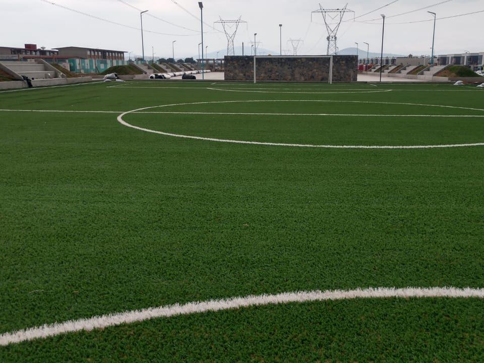 Constructora SADASI Tizayuca Hidalgo Dos Canchas Fútbol 7 Sports Grass 14