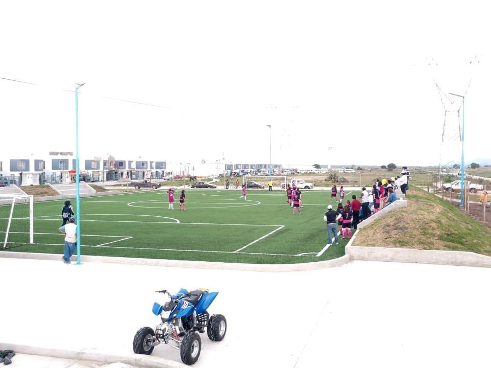 Constructora SADASI Tizayuca Hidalgo Dos Canchas Fútbol 7 Sports Grass 15