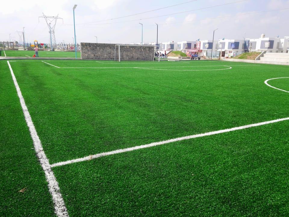 Constructora SADASI Tizayuca Hidalgo Dos Canchas Fútbol 7 Sports Grass 16