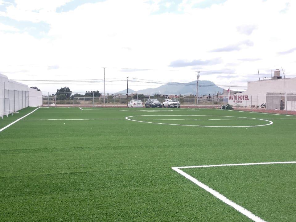 Canchas fútbol 5 y 7, área de gimnasio Actopan hidalgo 02