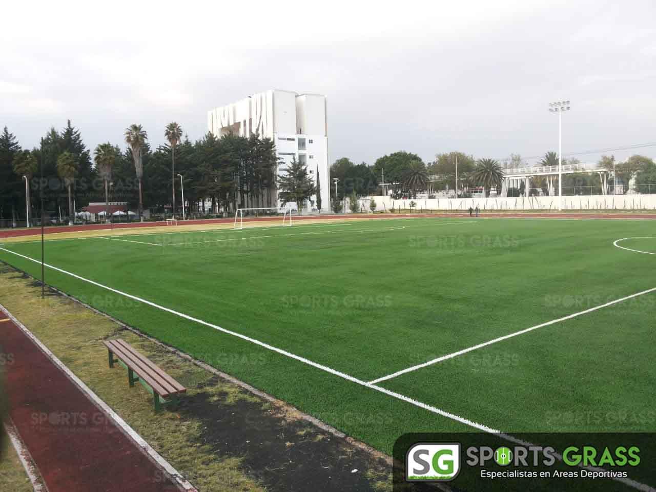 Cancha Futbol Soccer BINE Benemerito Instintuto Normal del Estado Puebla Sports Grass 01