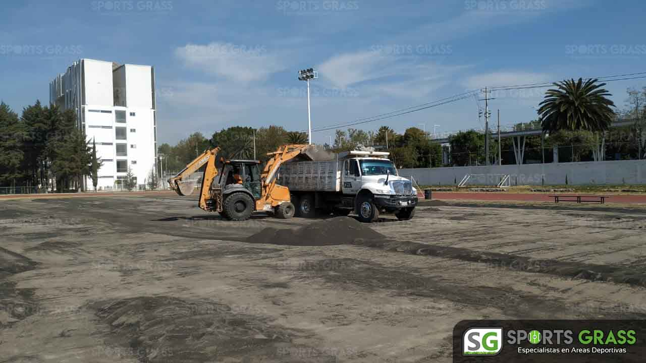 Cancha Futbol Soccer BINE Benemerito Instintuto Normal del Estado Puebla Sports Grass 012