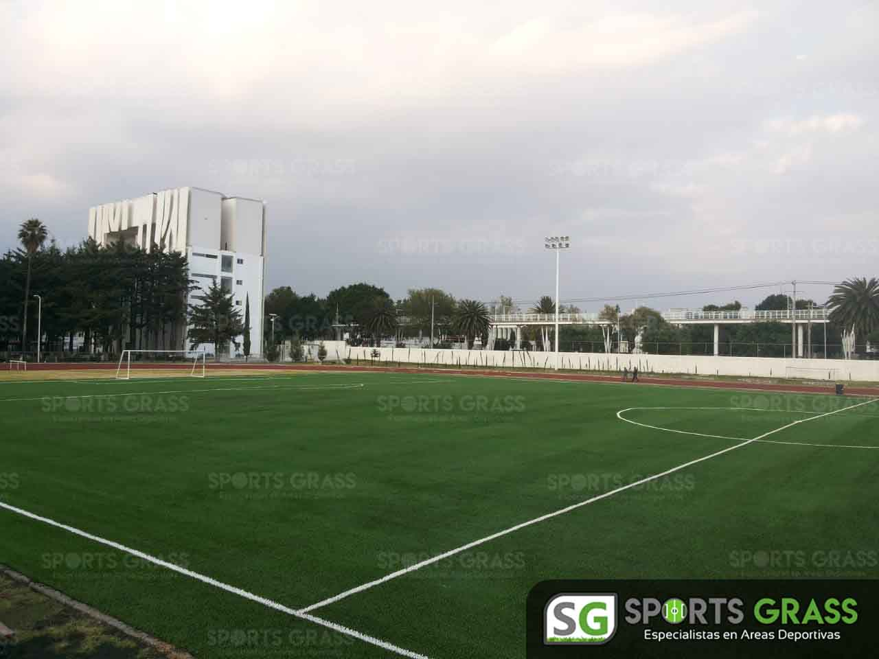 Cancha Futbol Soccer BINE Benemerito Instintuto Normal del Estado Puebla Sports Grass 02