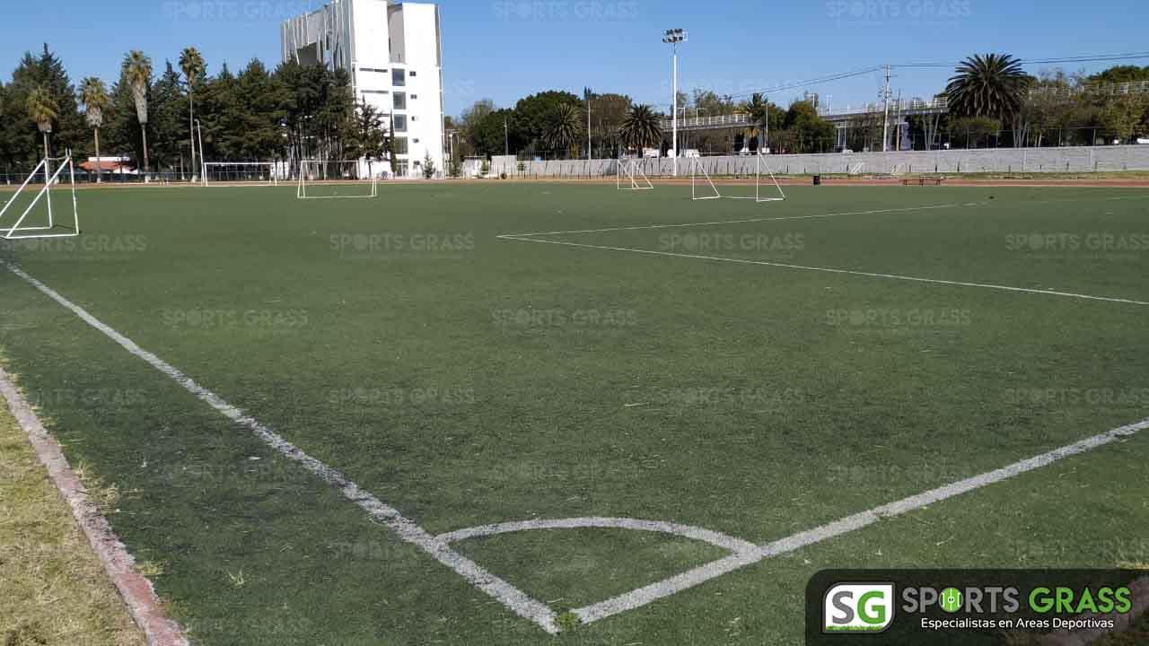 Cancha Futbol Soccer BINE Benemerito Instintuto Normal del Estado Puebla Sports Grass 06a