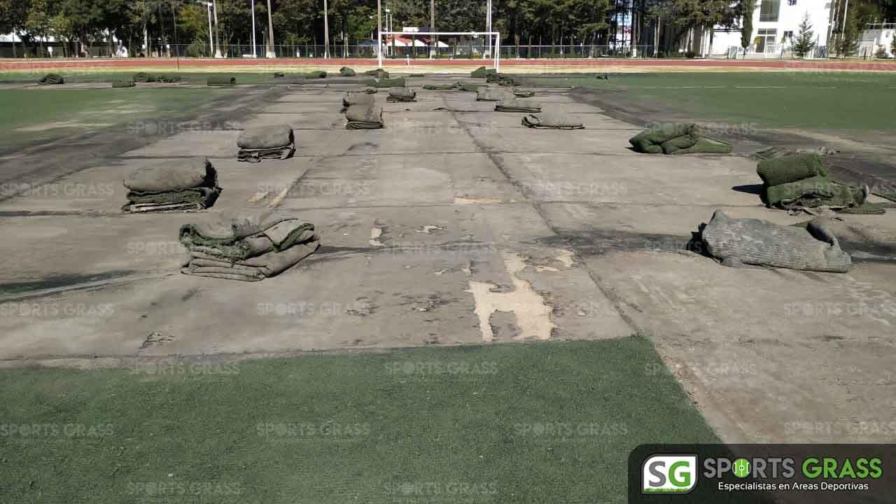 Cancha Futbol Soccer BINE Benemerito Instintuto Normal del Estado Puebla Sports Grass 07