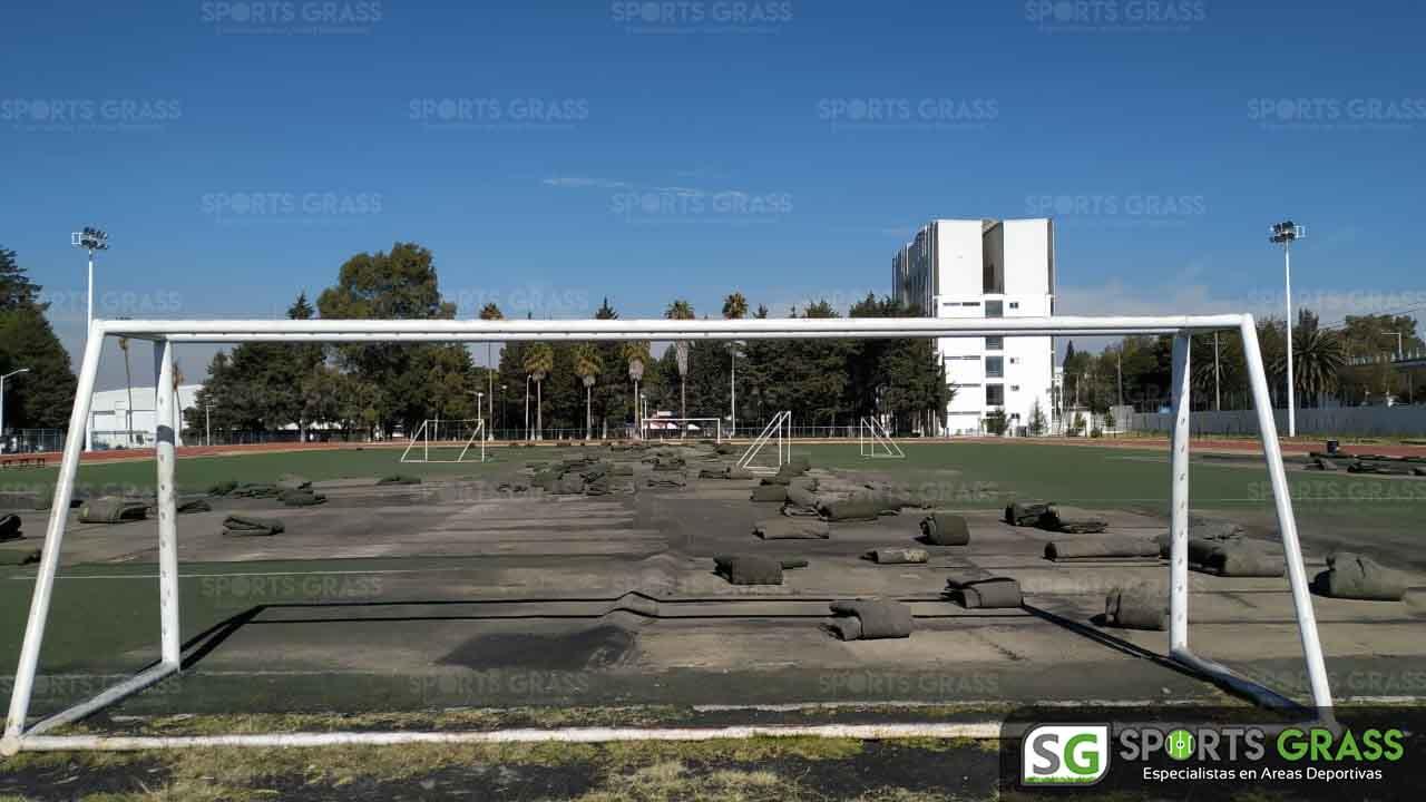 Cancha Futbol Soccer BINE Benemerito Instintuto Normal del Estado Puebla Sports Grass 10