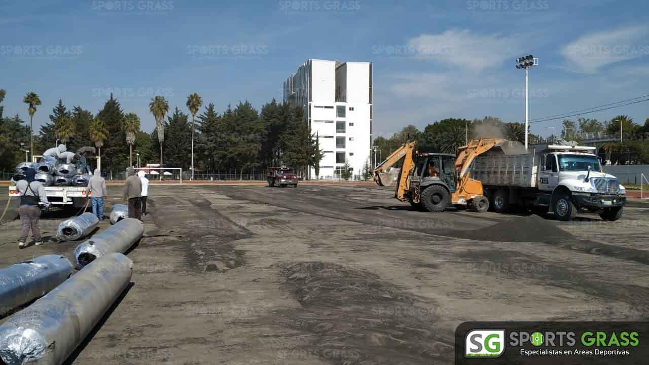 Cancha Futbol Soccer BINE Benemerito Instintuto Normal del Estado Puebla Sports Grass 14