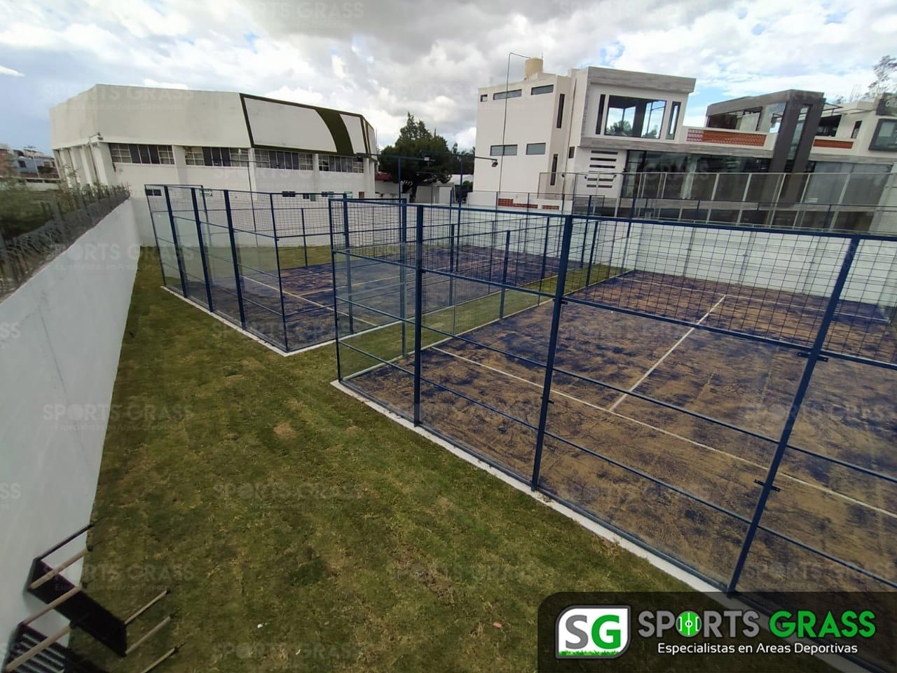 2 canchas de pádel recta a Cholula Puebla SportsGrass 02