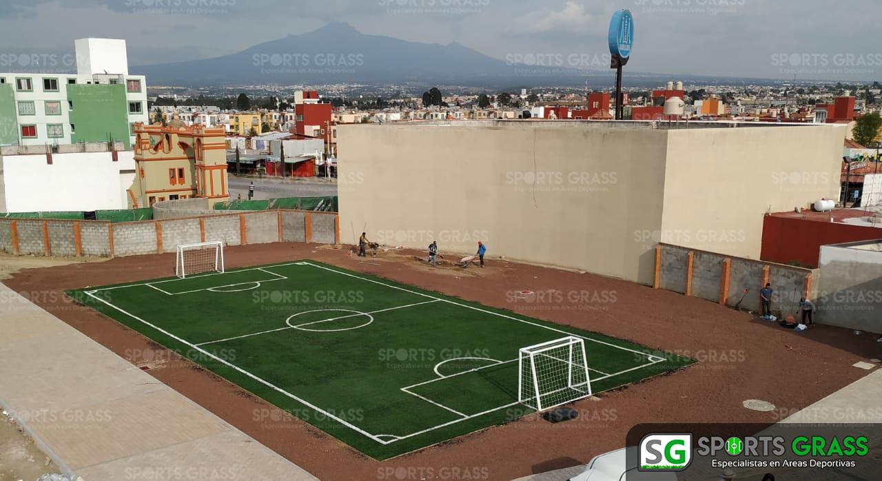 Cancha Futbol 5 Misiones de San Francisco Puebla Sports Grass 02