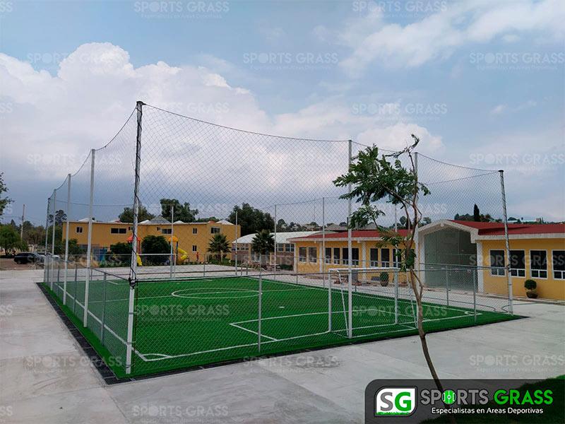 Cancha futbol 5 colegio Decroly Tlaxcala SportsGrass 02