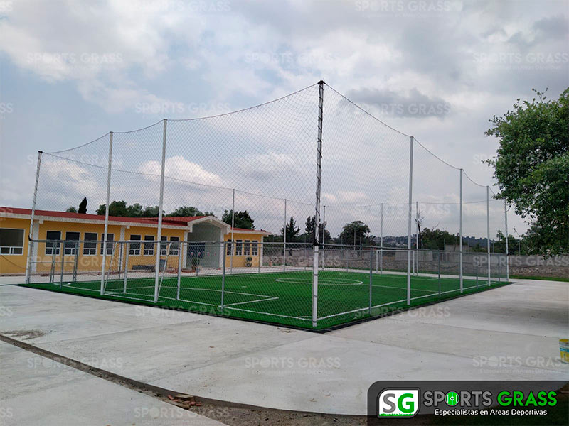 Cancha futbol 5 colegio Decroly Tlaxcala SportsGrass 03
