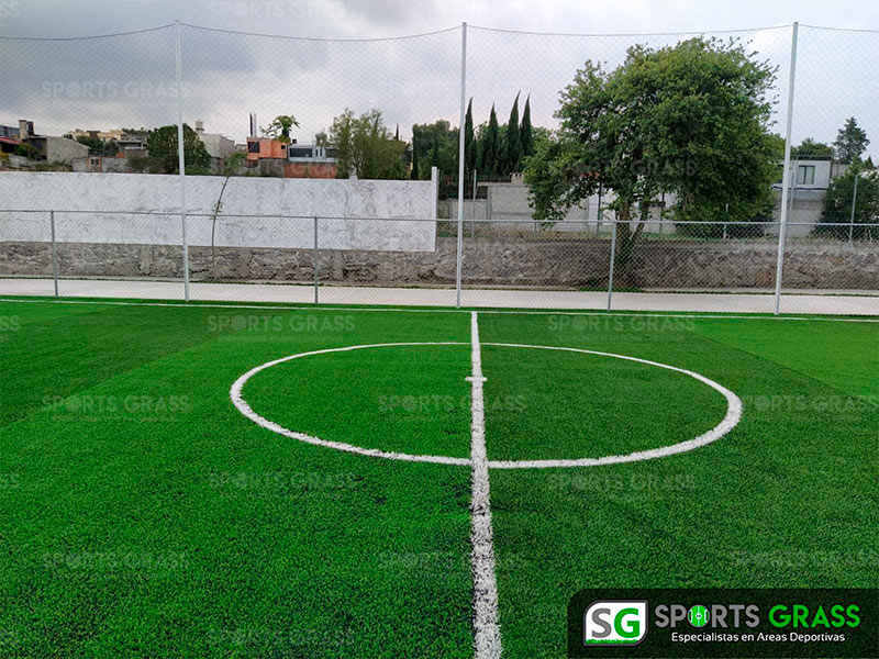 Cancha futbol 5 colegio Decroly Tlaxcala SportsGrass 04