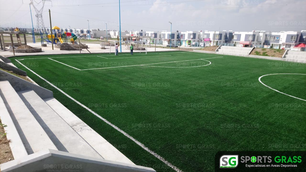 Constructora SADASI Tizayuca Hidalgo Dos Canchas Fútbol 7 Sports Grass 02