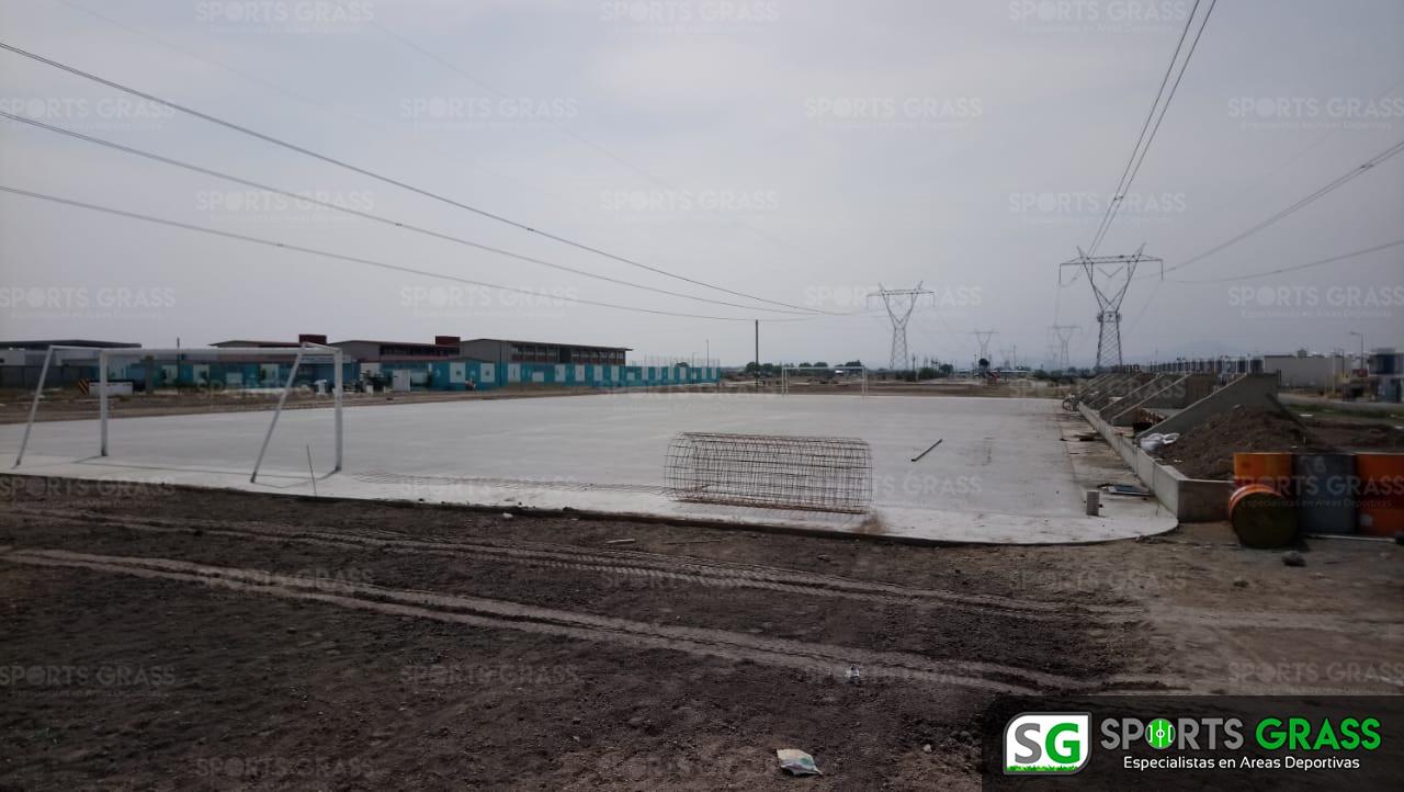 Constructora SADASI Tizayuca Hidalgo Dos Canchas Fútbol 7 Sports Grass 03