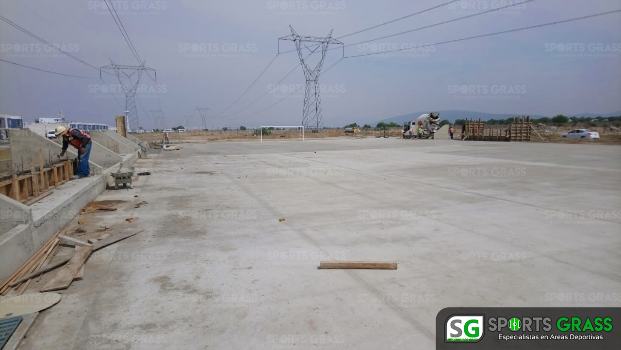 Constructora SADASI Tizayuca Hidalgo Dos Canchas Fútbol 7 Sports Grass 04