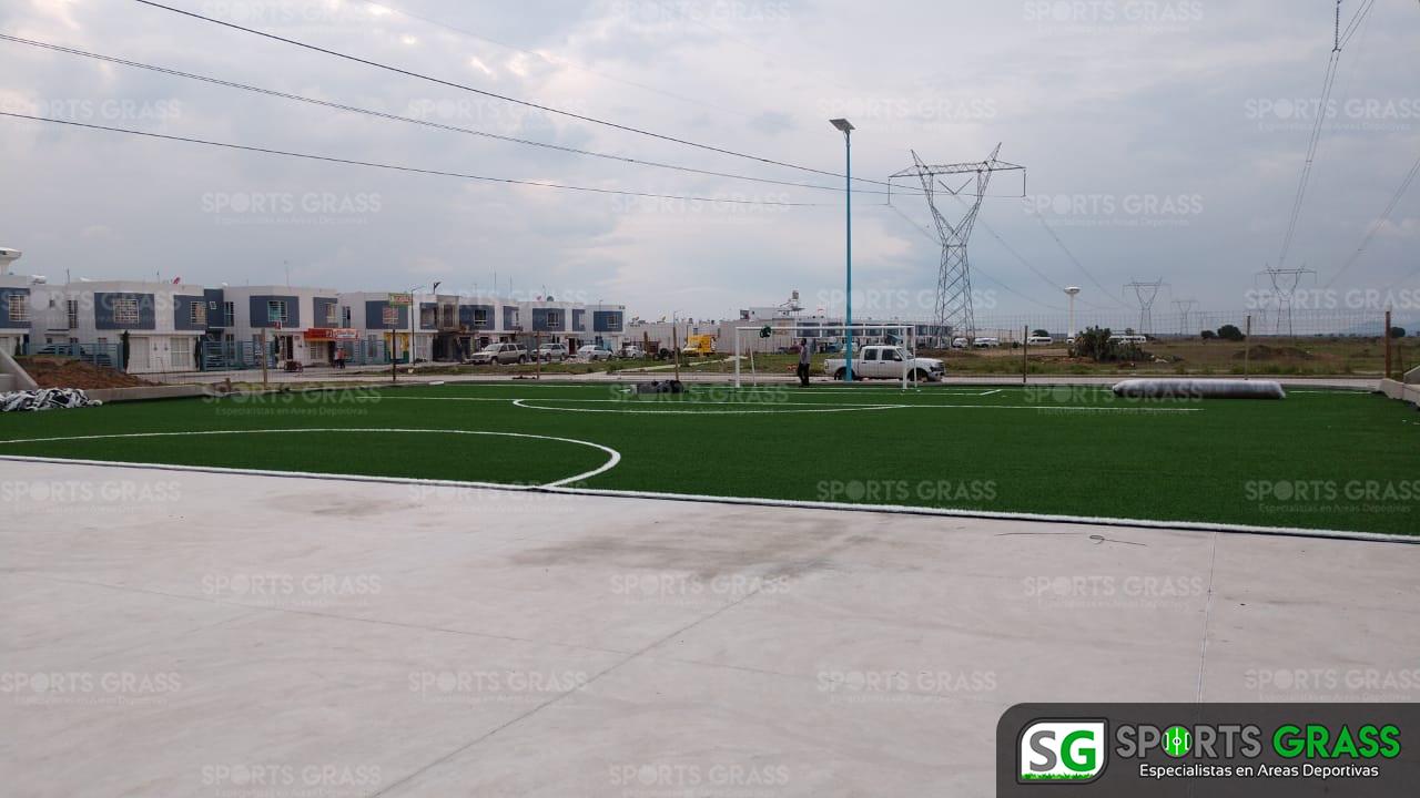 Constructora SADASI Tizayuca Hidalgo Dos Canchas Fútbol 7 Sports Grass 05