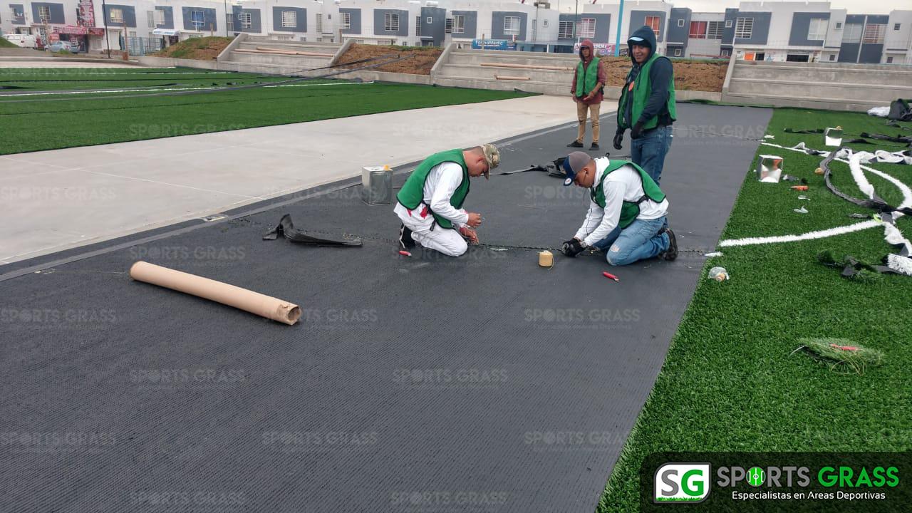 Constructora SADASI Tizayuca Hidalgo Dos Canchas Fútbol 7 Sports Grass 09