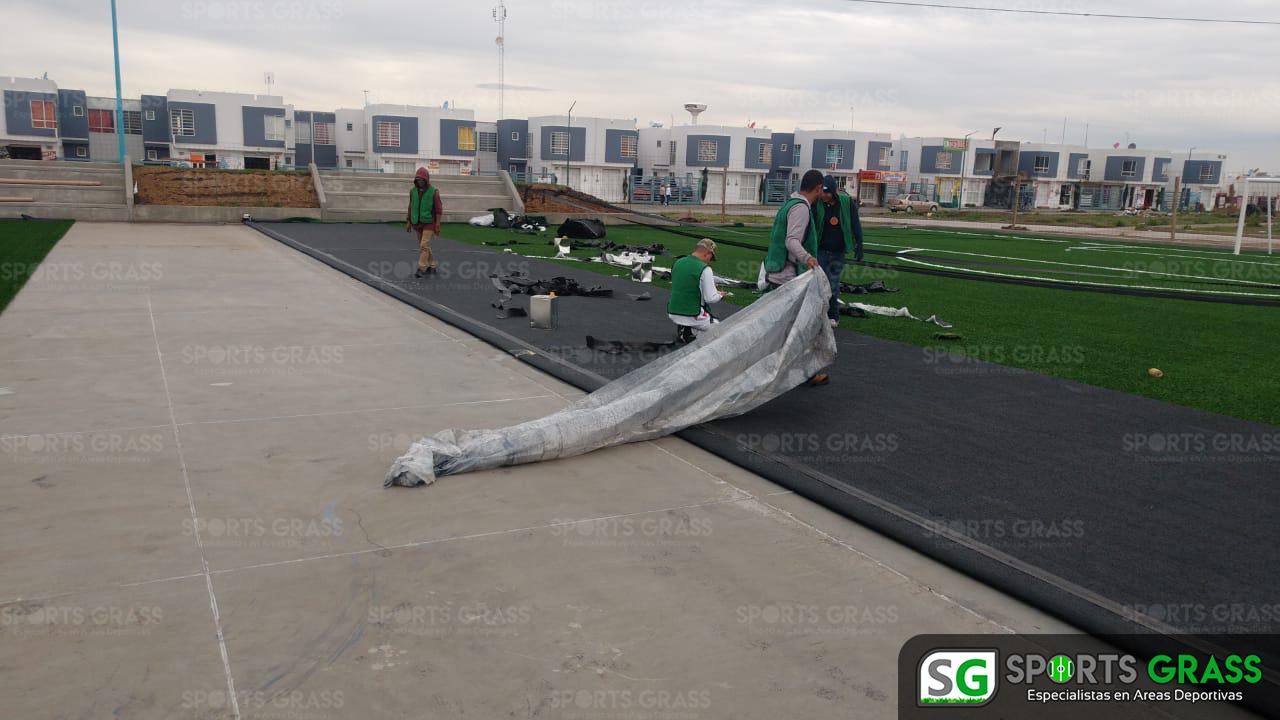 Constructora SADASI Tizayuca Hidalgo Dos Canchas Fútbol 7 Sports Grass 10
