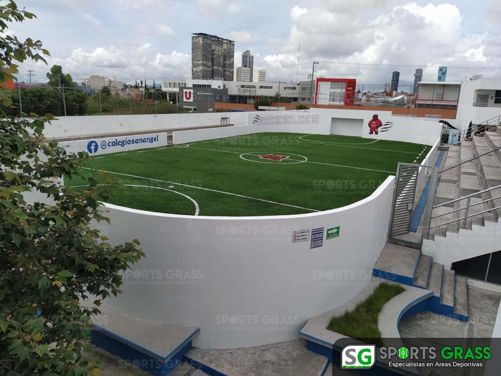 Futbol rápido con logotipo, colegio San Angel Puebla SportsGrass 01