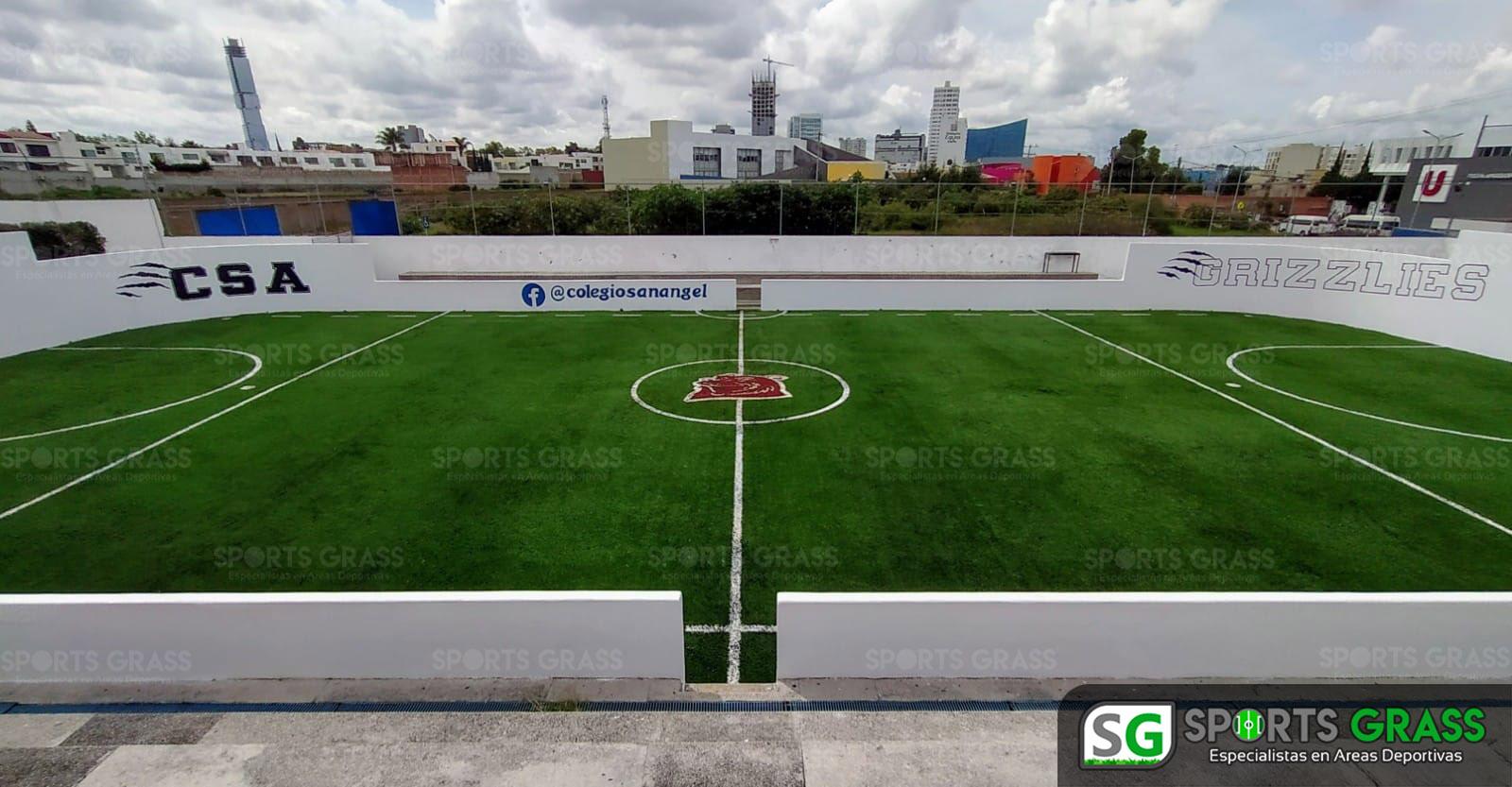 Futbol rápido con logotipo, colegio San Angel Puebla SportsGrass 03