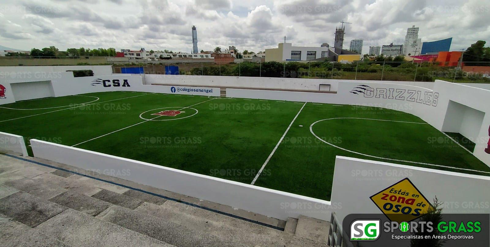 Futbol rápido con logotipo, colegio San Angel Puebla SportsGrass 04