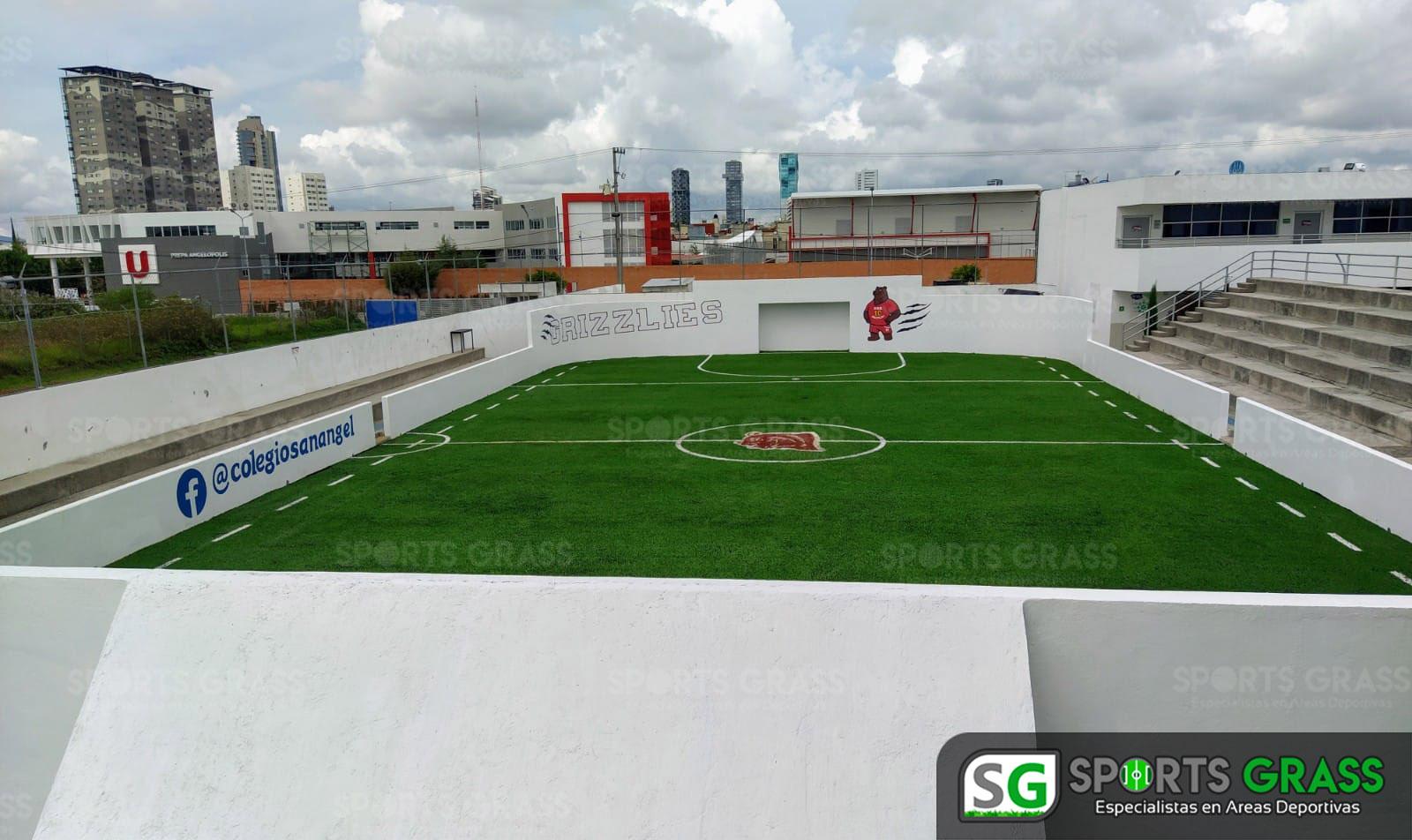 Futbol rápido con logotipo, colegio San Angel Puebla SportsGrass 05