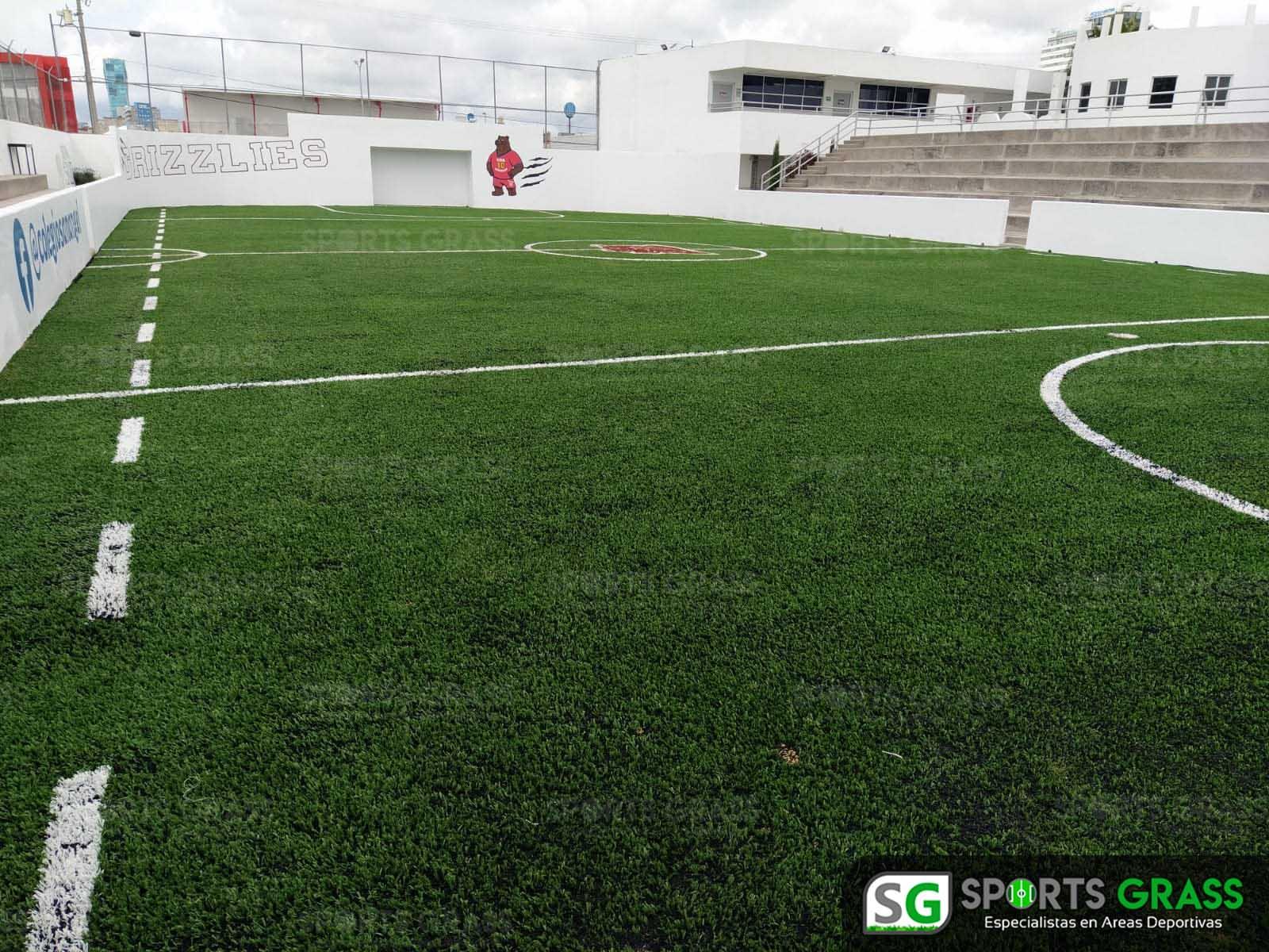Futbol rápido con logotipo, colegio San Angel Puebla SportsGrass 06