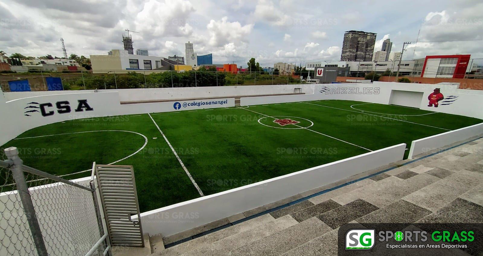 Futbol rápido con logotipo, colegio San Angel Puebla SportsGrass 07